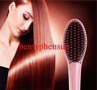 2015 Hot Sale Professional Hair Styling Straightener Irons Comb Avec écran LCD Straightening électrique Straightener Pin's Pin's