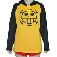Wholesale cosplay one piece hot online - 2018 Hot One piece Trafalgar Law Cosplay Hoodie Death Surgeon Thick Winter
