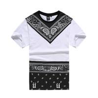 Wholesale Dancing Tops - 2016 New Male Bandana Shirt Swag Clothes Men's T Shirt Hip Hop Fashion Tees Pyrex Dancing Street Men's Clothing Camisetas Tops