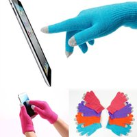 All'ingrosso-New Soft Inverno uomo Donne Touch Screen Gloves Texting capacitivo Smartphone Knit migliore