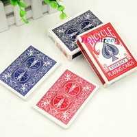 Wholesale Color Plastic Paper - 2 color for choose professional casino use Original playing card Bicycle Poker Board games card free shipping