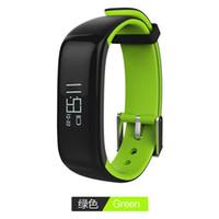 Wholesale Digital Health Pressure Meter - P1 Bluetooth Real-time Heart Rate Blood Pressure Monitoring Meter Step Waterproof Health Sports Double Color Smart Bracelet