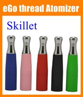 Wholesale Ego W Tips - eGo Skillet Vaporizer 510 Wax Atomizer Tank Dry Herb Vaporizer Metal Tip Atomizer Fit For EGO Series Ego-T Ego-C Ego-W E-Cigarette ATB014