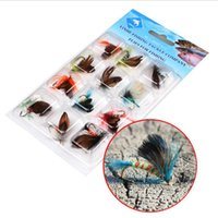 Wholesale new bait online - New Fly Hooked Lure Bait Bionic Imitation Butterfly Lure Bait Fly Fishing Tackle Fly Lure Bait