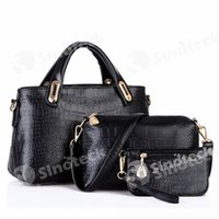 Wholesale Buy Tassels Wholesale - The New European And American Crocodile Grain Lash Package Leisure, Joker Three-piece Fashion PU Leather Bags, Buy Have Three Free DHL