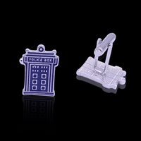 New Movie Jewelry Doctor Who Men's Cuff Links Moda Vintage Steampunk French Groomsmen Police Box Novidade Tie Clips Men Gifts