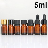 Wholesale small bottles for essential oils for sale - Group buy 7 Style Amber glass bottles ml bottles with pipette round small glass vials for essential oil
