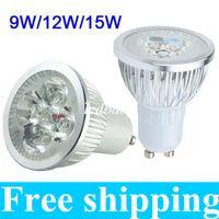 mr16 led lampara de luz regulable al por mayor-El CREE de alta potencia 9W 12W 15W llevó los proyectores Dimmable GU10 MR16 E27 E14 B22 llevó lámparas ligeras luces de techo led