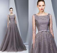 3b3319c925d Wholesale georges hobeika dresses online - Georges Hobeika Full Winter  Sheer Long Sleeve Evening Dresses Spring