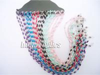Wholesale Eyeglasses Holder Chain - Wholesale-Beaded Pearl Sunglass Reading Glasses Eyeglass Chain Cord Rope Holder