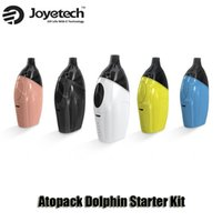 Wholesale Joyetech Cartridge Wholesale - 100% Original Joyetech Atopack Dolphin Starter Kit Built-in 2100mAh Battery 2 6ml Cartridge AIO Kits With JVIC System
