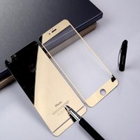 Wholesale Membranes Body - Front+Back Tempered Glass For iPhone 4s 5 5s 6 6plus Full Cover Screen Protector Mirror Effect Colorful protective film Mask proof membrane