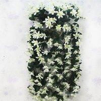 decoraciones de la boda de invierno al por mayor-Boda 2 piezas Artificial Lily Colgante Flor Vid Invierno Jazmín Flor Vides Rattanes de plástico para decoraciones de boda de fiesta en casa