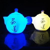 Wholesale Teapot Night Lights - 2016 Real Hot Sale Sugru Feng Shui Gadgets Free Shipping Gift Teapot Colorful Small Night Light Novelty Lots In Stock