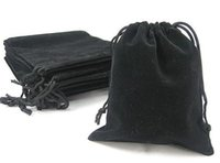 Wholesale Velvet Pouches For Jewellery - set of 100pcs black velvet bags, jewellery pouches, 10*11.5cm Perfect for Jewelry, Wedding Favors, and Gift Packaging