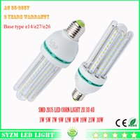 Wholesale E26 Led 12w Corn - Led bulb light 2U 3U 4U 3W 5W 7W 9W 12W 16W 19w 23W 30w LED corn light AC85-265V E27 lamp for Home