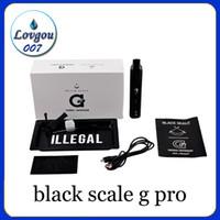 Wholesale E Cigs Pipes - black scale g pro snoop dogg herbal dry herb vaporizer pen kit kits gpro vape vapor smoking pipe e cig cigs ecig cigarettes
