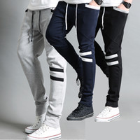 Wholesale Straight Leg Harem Pants - Spring Autumn Men's Cool Harem Trousers Skinny Pants Legging Straight Fit Sports Sweat Pants casual pants