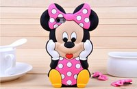 Wholesale Galaxy S3 3d Cases - 3D Mickey Minnie Mouse Soft Silicone Case Cover For iphone 4S 5S 6 6S Plus samsung Galaxy S3 S4 S5 S6