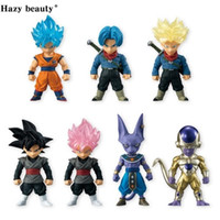 7Pcs / Set di Dragon Ball Z Zebra DBZ Super Adverge 4 Rose Nero Goku Trunks Bills PVC figura giocattoli bambole