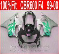 99 honda cbr großhandel-Customize Silber schwarz Karosserie für Honda Verkleidungen 99 00 CBR 600 F4 Einspritzung Verkleidung Kit CBR600 F4 1999 2000 CYAI