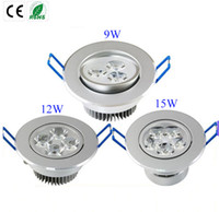 Wholesale Led Wall Light 15w - Ultra Bright 9W 12W 15W led downlights dimmable 110V-240V Ceiling wall bulb Led Ceiling lamp led spotlight down light