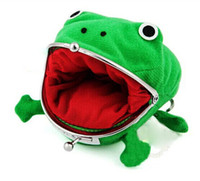 Wholesale Naruto Coins - 2015 Naruto Cute Frog wallets children kids Frogs Plush Coin zero Purse Uzumaki pouch handbag cosplay goods with Iron button hot