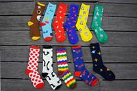 Wholesale Cotton Dress Socks Women - 1lot=12pairs=24pcs New men & women socks dress socks for men Knee High cartoon basketball mens socks cotton marijuan socks long BY0000