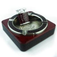 Wholesale Titanium Lighters - titanium ash and sand ash ashtray sets (ashtray + lighter)