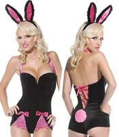 Wholesale Sexy Bunny Lingerie Cosplay - w1023 Sexy lingerie hot uniforms temptations anime Sexy Bunny suit rabbits cosplay rabbit costume sexy underwear Exotic lingerie women