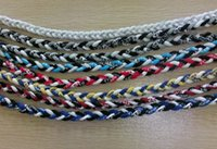 Wholesale Cheap Plastic Slides - 3 ropes sports braided titanium necklace Health silicone fashion cheap sports baseball necklace Various colors and sizes