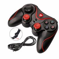 controlador inalámbrico smartphone al por mayor-Joystick inalámbrico Bluetooth 3.0 T3 Gamepad Gaming Controller Gaming Remote para Tablet PC Android Smartphone con soporte