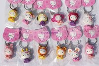 Wholesale Chinese Zodiac Charms - Sale Set   12pcs Cute Hello Kitty Action Figure Toys 5cm Chinese Zodiac Keychain Great Gift For Christmas