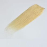 three part closure blonde großhandel-# 613 Bleach Blonde Lace Closure 4 * 4 Zoll Schweizer Spitze Menschen Glattes Haar Verschluss Drei Teil / Mittelteil / Freie Teil