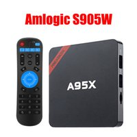 Wholesale Pre Set - Nexbox A95X TV BOX Amlogic S905W Quad Core 1G 8G WIFI Android 7.1 Set-top BOX Pre-installed Dolby DTS Miracast DLNA Smart Media Player