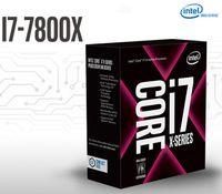 intel i7 cpu toptan satış-Piyasaya yeni Intel Core i7-7800X I7 7800X Kutulu işlemci LGA 2066 6 Çekirdekli CPU FedEx Ücretsiz