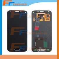 Wholesale Galaxy S Assembly - LCD Touch Screen & Digitizer Assembly with Home Button & Flex for Samsung Galaxy S5 Mini S V Mini G800F G800H Blue White High Quality