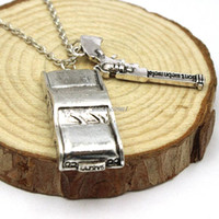 Wholesale Dean Winchester Necklace - Wholesale-Freeshipping wholesale a lot Supernatural Dean Winchester car with license plate necklace