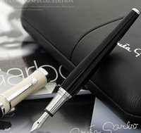 Wholesale Stainless Screws Type - Luxury Greta Garbo Special Limited Edition Fountain Pen Screw Type Cap Unique Stationery Executive Writing Pens With Pearl Clip