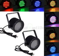 Wholesale 86 Led Strobe - Professional Stage Light 25W 86 RGB LED Light 4 Channel DMX512 Control Lighting Projector DJ Party Disco Stage light US plug MYY