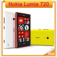 "Wholesale Dual Os Windows - Unlocked Original 720 Nokia Lumia 720 Windows Phone 8 Dual-core 1.0 GHz Camera 6.7MP ROM 8GB 4.3"" IPS Capacitive 3G Mobile Phone"