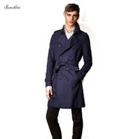 Wholesale Long Coat Designs For Men - Fall-2015 Newest Cloak Design Good Quality Luxury X-long Men's Fashion Trench Coat For Man Casual Wind Coat Stand Collar 2 COLORS