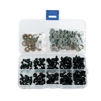 Wholesale Safety Animal Eyes - Wholesale-New 100pcs 6-12mm Black Plastic Safety Eyes For Teddy Bear Doll Animal Puppet Crafts