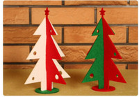 30pcs / Lot Fashion Colorful Christmas Tree Décoration en tissu DIY Mini Party Room Christmas Tree Decorative New Year Accessoires