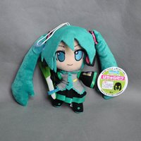 "Wholesale Dolls Vocaloid Miku - Hot New 6"" 15CM VOCALOID Hatsune Miku Smiling Japan Anime Plush Toy Dolls For Children Gifts Keychains Pendants Soft Stuffed Toys"