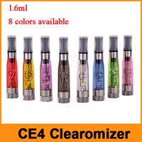 Wholesale clearomizer electronic cigarette battery resale online - Ego CE4 Atomizer Clearomizer Electronic Cigarette Atomizer ml CE4 Cartomizer Fit For Threading Batteries