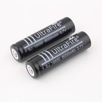 Wholesale Li Ion Battery For Flashlight - Free Shipping 3.7V Rechargeable Battery 6000mAh 18650 Li-ion Rechargeable Battery for Flashlight Torch for UltraFire Brand New