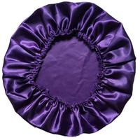 Wholesale Adult Satin Night - Wholesale-100% Satin Silky Feeling Night Sleep Cap Bonnet Cap