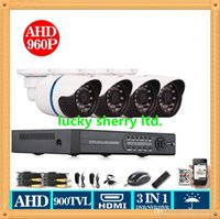 CIA-4CH HDMI DVR AHD 960P 720P HD Video 900TVL sicurezza di visione notturna all'aperto cctv 4 telecamere del sistema Kit Usa wireless iphone android
