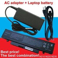 Wholesale N145 Battery - Free shipping- 1pcs AC Adapter+1pcs laptop battery For Samsung N210 N145 AA-PB1VC6B AA-PL1VC6B E AA-PB1VC6W AA-PL1VC6W AA-PL1VC6B AA-PL1VC6W